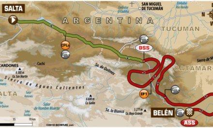 Recorrido de la etapa 10 del Dakar 2018: Salta – Belén