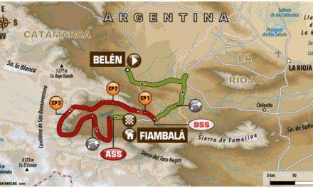 El recorrido de la Etapa 11 del Dakar 2018: Belén-Fiambalá/Chilecito