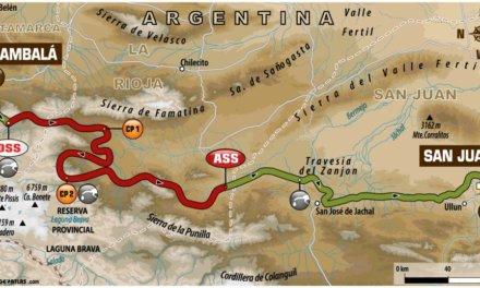 El recorrido de la etapa 12 del Dakar 2018: Fiambalá/Chilecito-San Juan