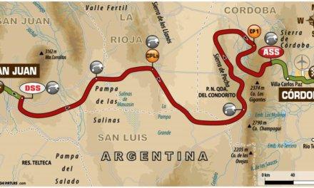 El recorrido de la Etapa 13 del Dakar 2018: San Juan – Córdoba