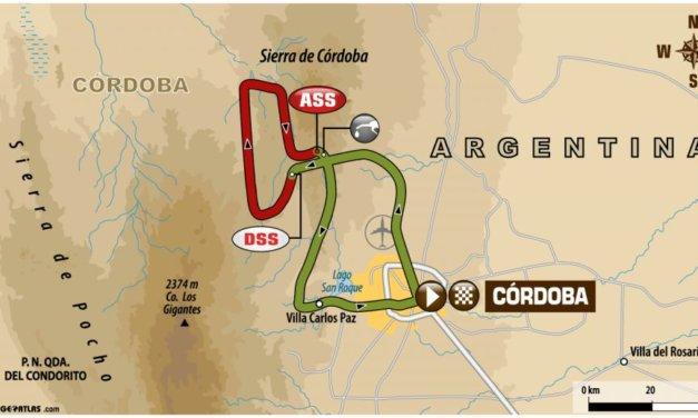 El recorrido del día de la etapa 14 del Dakar 2018: Córdoba – Córdoba