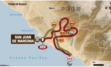 El recorrido de la etapa 4 del Dakar 2018: San Juan de Marcona x2