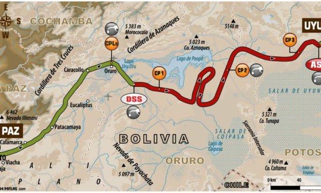 El recorrido de la Etapa 7, Dakar 2018: La Paz-Uyuni