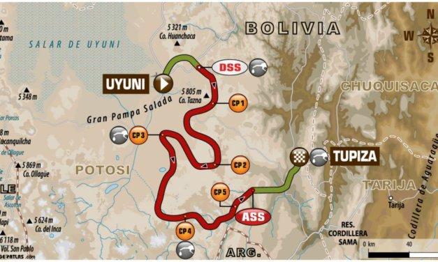 El recorrido de la Etapa 8 del Rally Dakar 2018, Uyuni-Tupiza