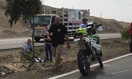El primer accidente del Dakar 2018, antes de que comience la competencia