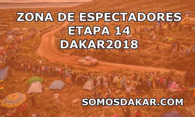 Las zonas de espectadores de la Etapa 14 del Dakar 2018: Córdoba – Córdoba