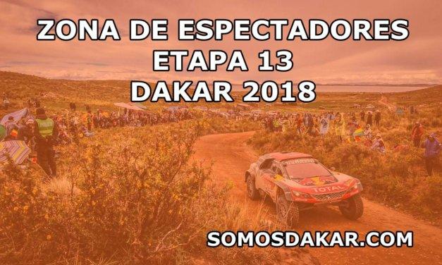 Las zonas de espectadores de la etapa 13 del Dakar 2018: San Juan – Córdoba