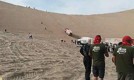 Dakar 2018: Varios vehículos quedaron varados toda la noche en la gran Olla de California
