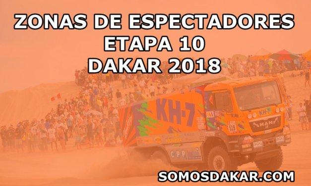 Zonas de espectadores de la Etapa 10 del Dakar 2018, Salta-Belén