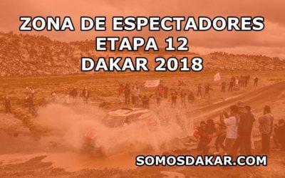 Zonas de espectadores de la Etapa 12 del Dakar 2018: Chilecito – San Juan