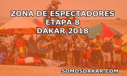 Zonas de espectadores de la Etapa 8 del Dakar 2018: Uyuni-Tupiza