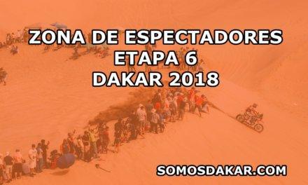 Zonas de espectadores de la etapa 6, Arequipa – La Paz, Dakar 2018