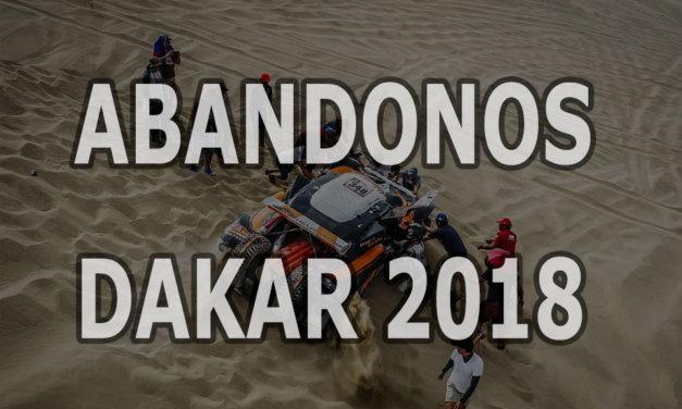 Todos los abandonos del Rally Dakar 2018