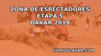 Dakar 2018: Zonas de espectadores para la Etapa 5 San Juan de Marcona-Arequipa