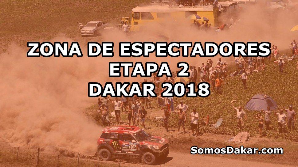 Dakar 2018: Zona de espectadores de la Etapa 2