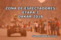 Dakar 2018: Zona de espectadores, Etapa 3 Pisco – San Juan de Marcona