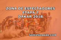Las zonas de espectadores de la Etapa 7 del Dakar 2018: La Paz -Uyuni
