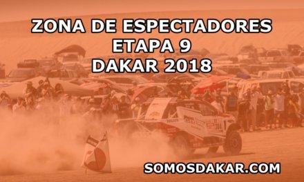 Zonas de espectadores de la etapa 9 del Dakar 2018: Tupiza-Salta