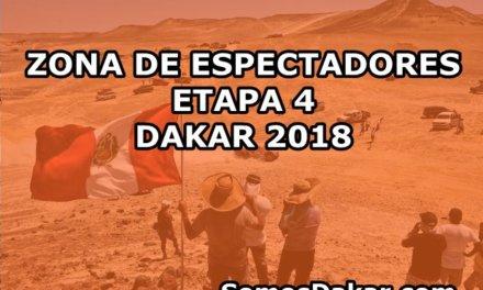 Rally Dakar 2018: Zona de espectadores de la etapa 4