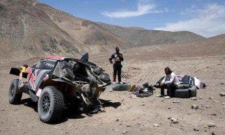 Así quedó el 3008 DKR de Despres tras el accidente