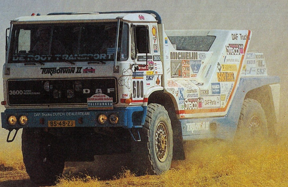 DAF Turbo Twin, los camiones más poderosos de la historia dakariana