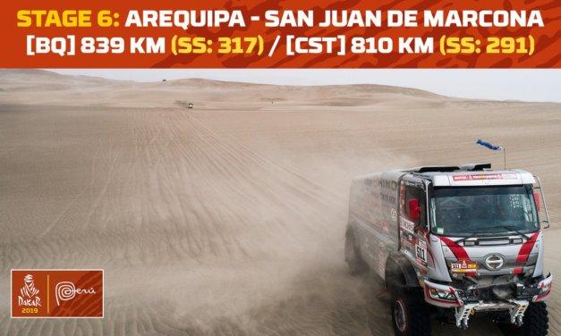 Recorrido de la etapa 6 – Dakar 2019