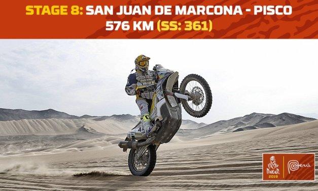 El recorrido de la etapa 8 – Dakar 2019