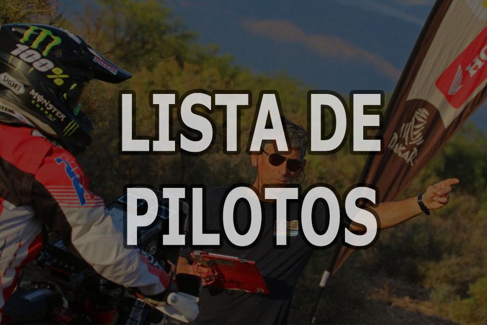 Lista de pilotos - Dakar 2021