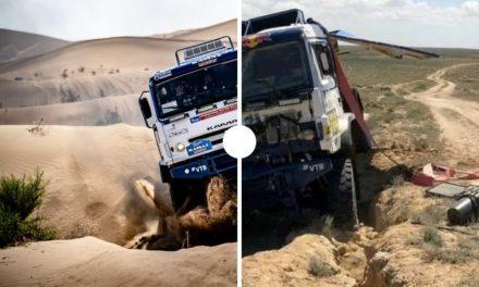 Antes y después: así quedan los vehículos del Dakar luego de sus accidentes