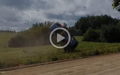 Video: Christian Veiby protagonizó un duro accidente en el Rally de Estonia