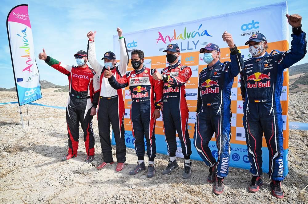 La lista de pilotos inscriptos al Andalucía Rally 2021
