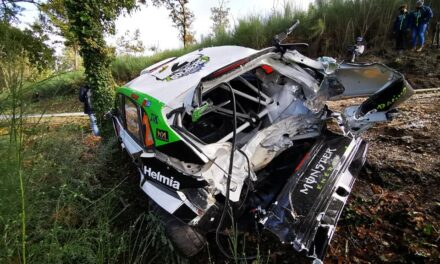 Video: duro accidente de Oliver Solberg en Montelongo