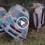 Insólito: una curva en el Rally Pskov de Rusia registró al menos seis accidentes casi consecutivos