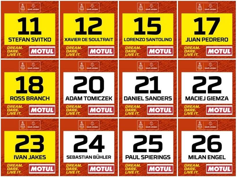 Dakar 2021: Ya están los números oficiales para las motos y quads