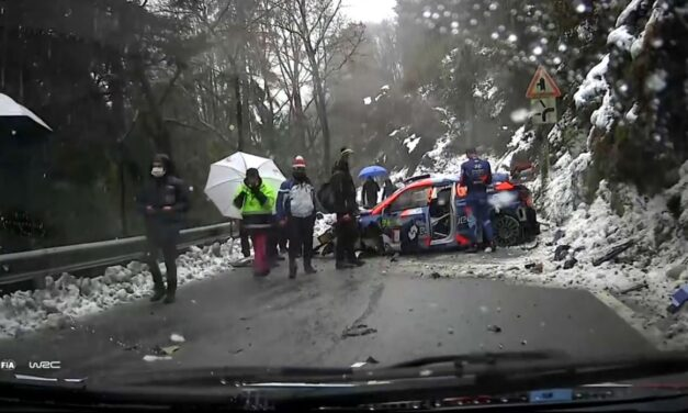 Videos: la nieve causó múltiples accidentes en el Rally de Monza