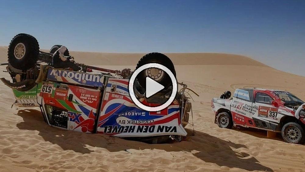 Video: Así fue el accidente de Van Den Heuvel que ocasionó el choque de Yacopini
