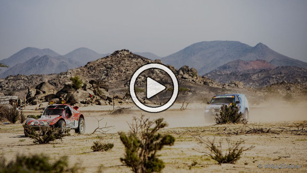 Video: Los vehículos del Dakar Classic debutaron oficialmente en el Dakar 2021