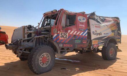 Fotos y video: así quedó el camión del Firemen Dakarteam tras su accidente