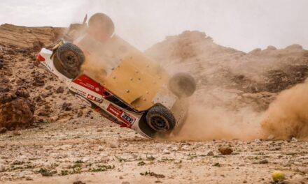 Secuencia de fotos: así fue el aparatoso accidente de Lategan