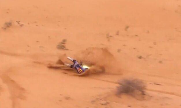 Video: la fuerte caída de Ross Branch que lo demoró en la etapa 7 – Dakar 2021