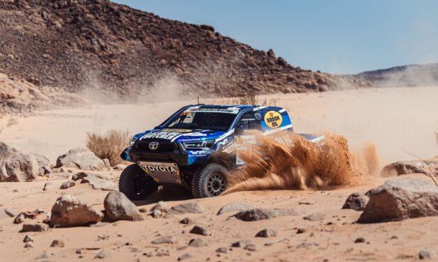 Van Loon comenzó liderando la Baja Jordania entre los autos