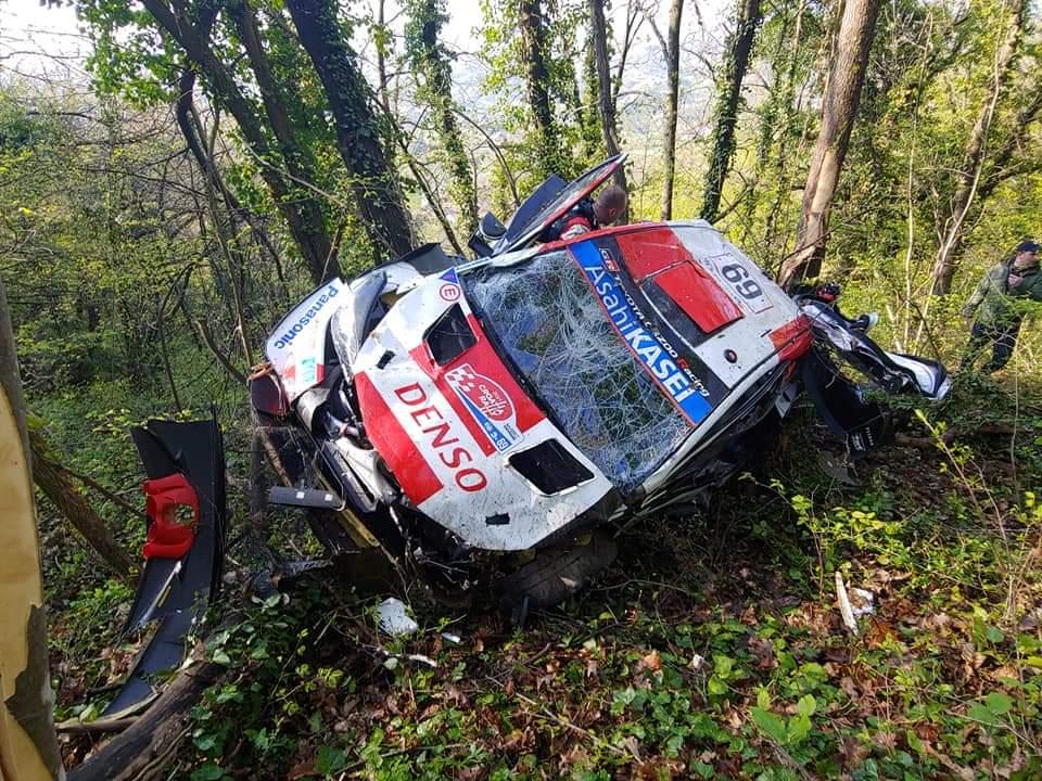 Video: Rovanperä sufrió un duro accidente en Croacia
