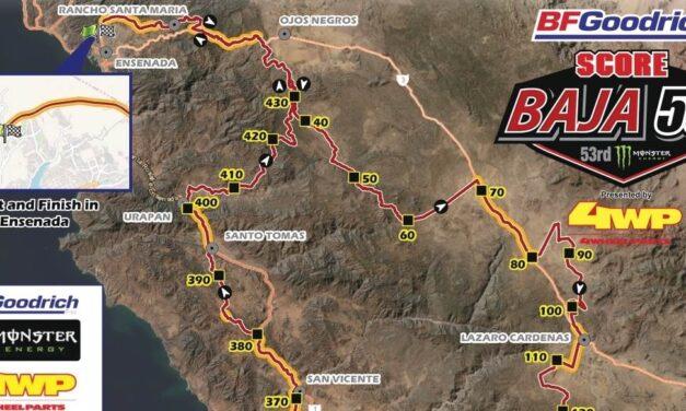 Recorrido y mapa de la Baja 500 2021