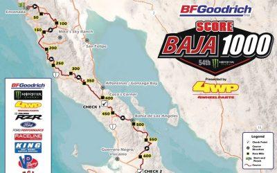 El mapa y principales lugares de la Baja 1000 2021